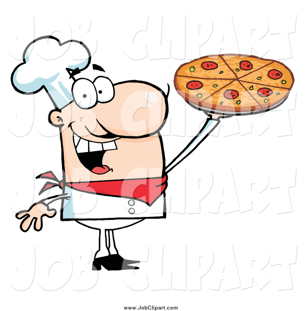 Larger Preview  Job Clip Art Of A Happy White Male Chef Presenting His