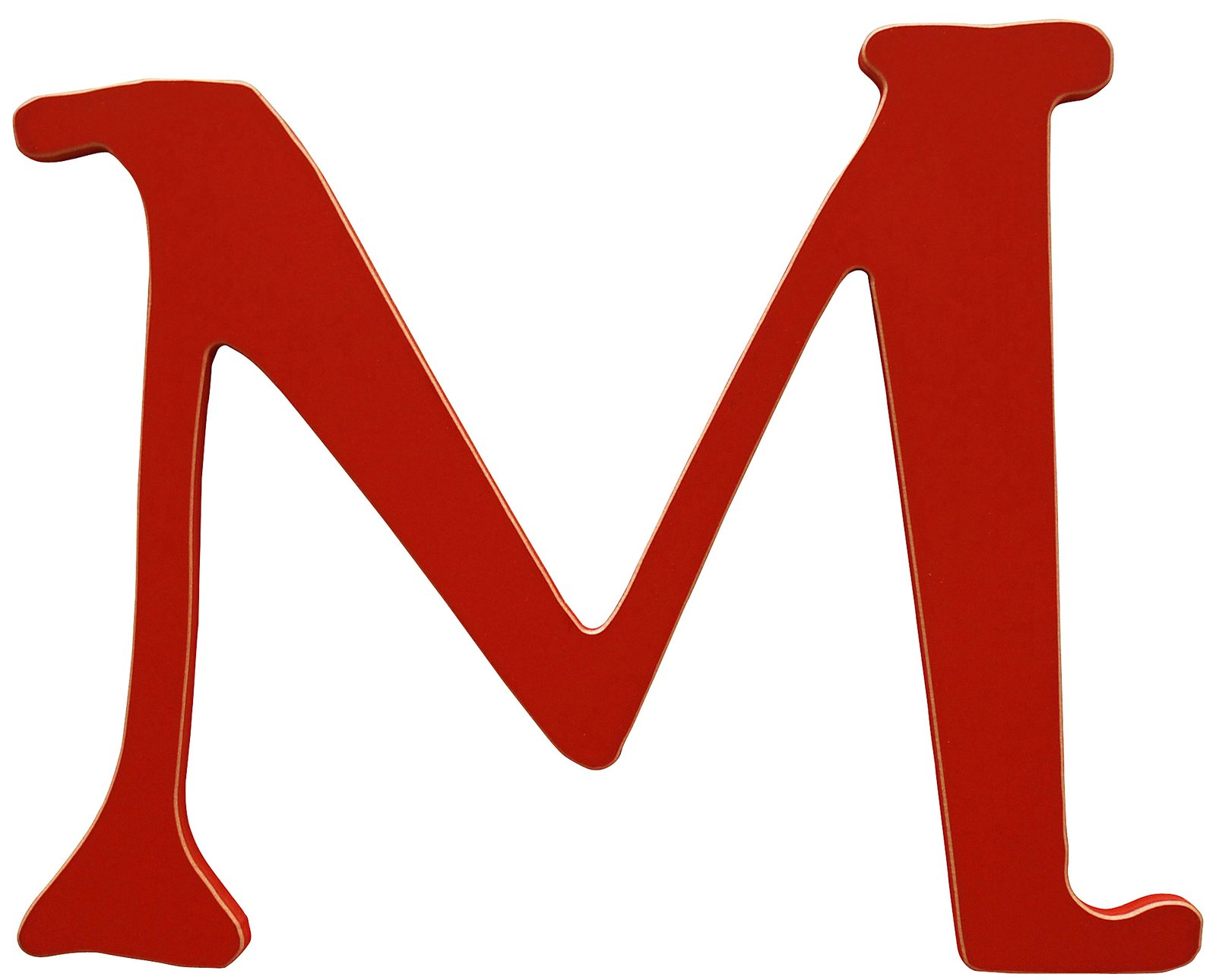 New Arrivals The Letter M Rusty Red Free Shipping Pij5ef