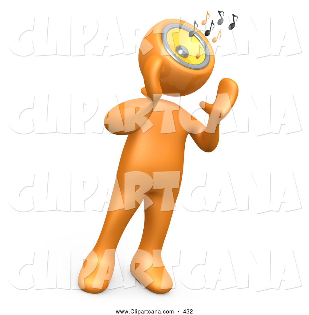 Person Speaker Clipart Clip Art Of A Orange Person