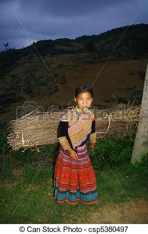 Picture Of Hmong Ethnic Girl In The Night   Night Falls The 10 Year