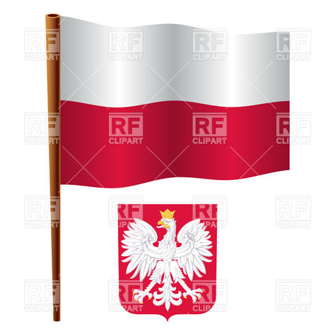 Poland Flag And Coat Of Arms 16755 Signs Symbols Maps Download