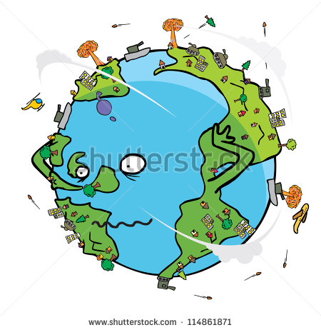 Poor Earth Stock Vector 114861871   Shutterstock