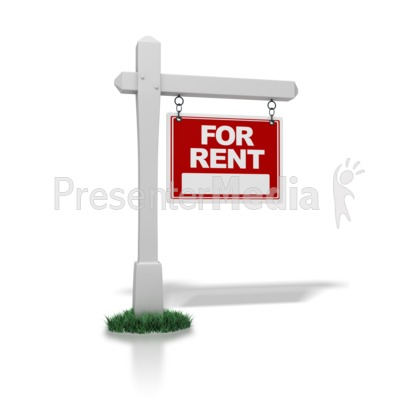 Real Estate Sign For Rent   Signs And Symbols   Great Clipart For