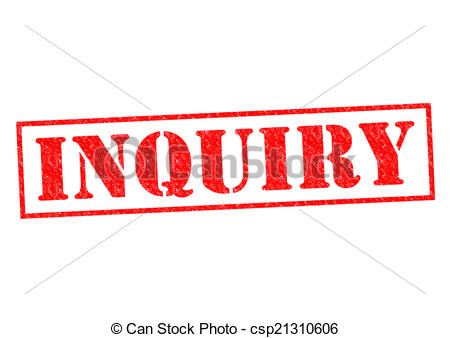 Stock Illustration Of Inquiry Red Rubber Stamp Over A White Background