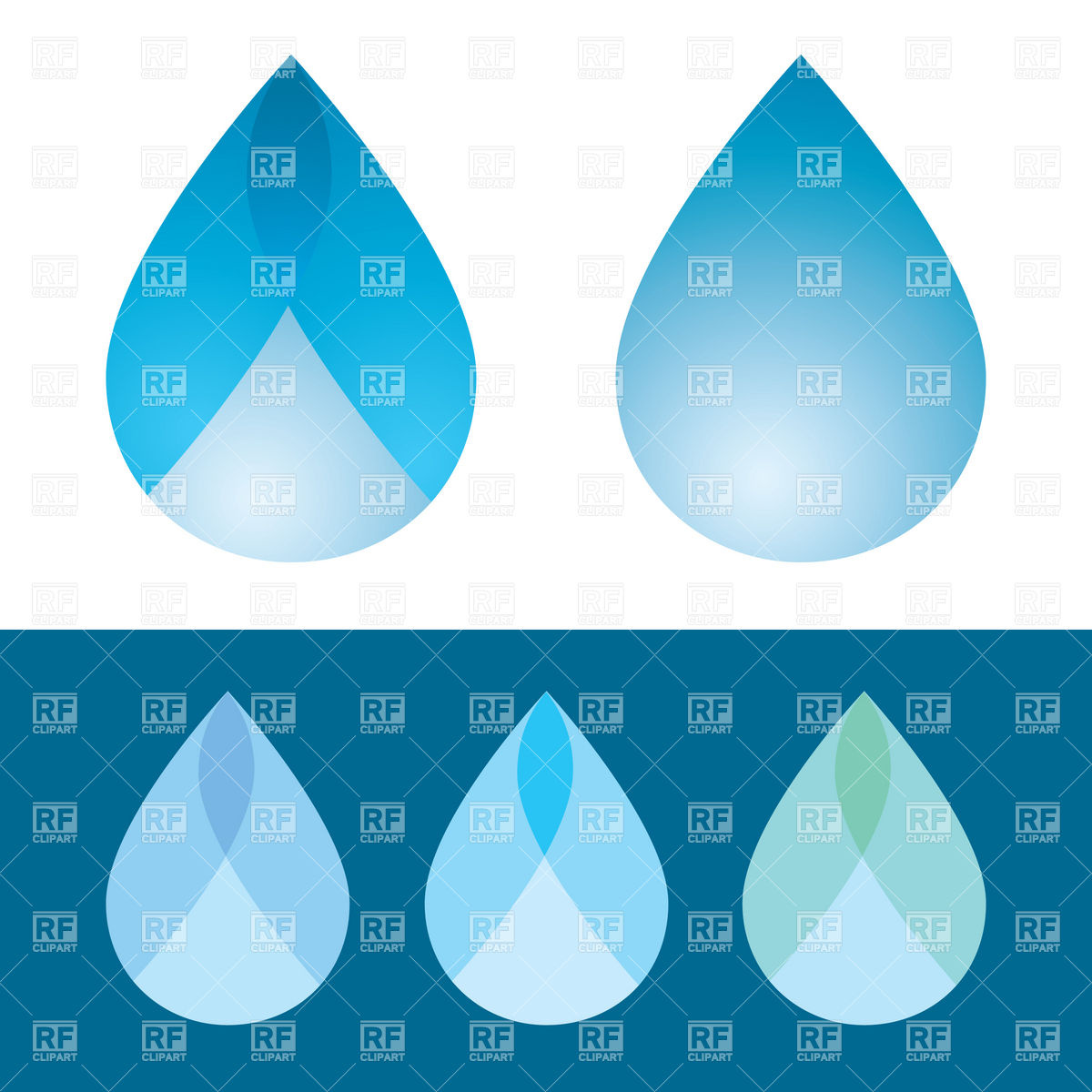 Symbolic Water Droplet Download Royalty Free Vector Clipart  Eps