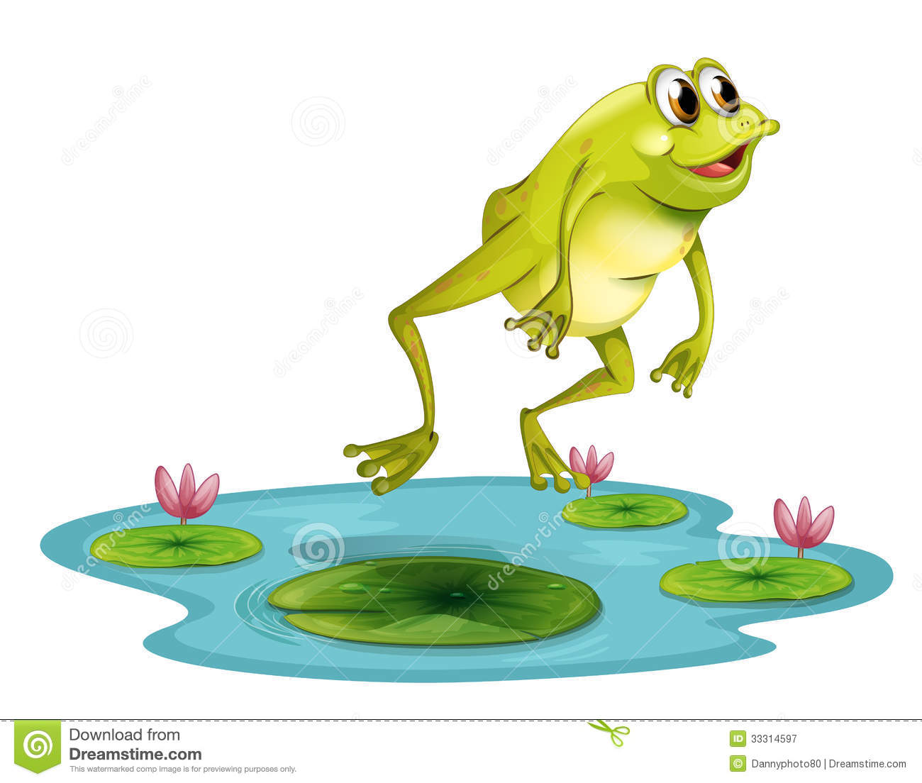 Clipart Frog A Jumping Frog At The Pond