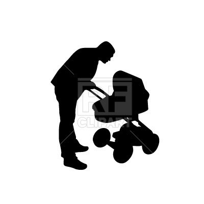 Daddy With Perambulator 298 People Download Free Vector Clip Art