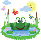 Frog Pond Illustrations And Clipart  165 Frog Pond Royalty Free
