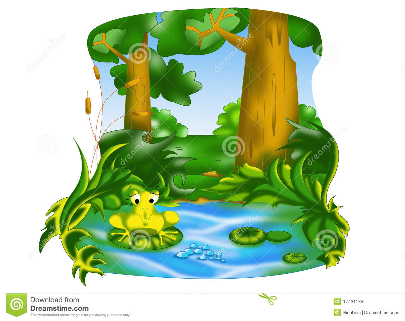 Images For Frog Pond Clipart Image Search Results