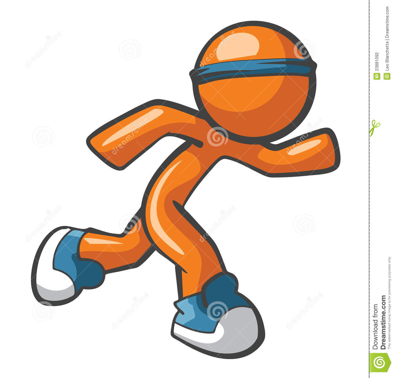 Kids running shoes clipart