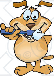 Royalty Free  Rf  Clipart Illustration Of A Sparkey Dog Brushing His
