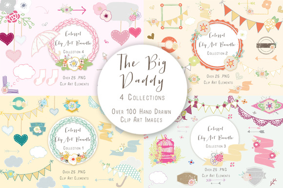 The Big Daddy Clipart Bundle From Create The Cut