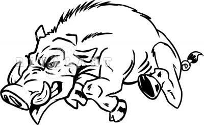 Clip Art Hog Clipart wild hog clipart kid running left panda free images