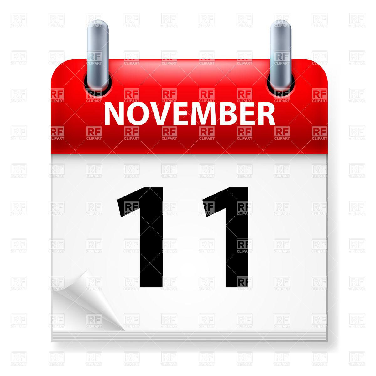 November- 11 Clipart - Clipart Kid