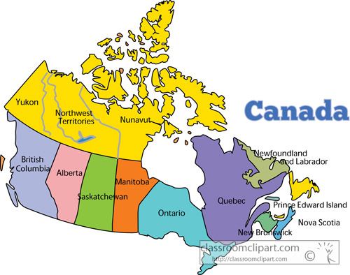 Canada Map Clipart Clipart Kid – Map of the Canadian Provinces