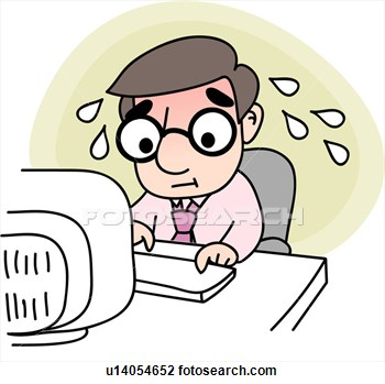 Clipart   Job Office Tired Stress Businessman Company  Fotosearch