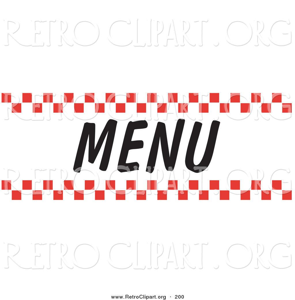 dinner menu clipart clipart suggest