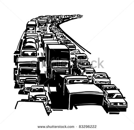 Traffic Jam Clipart - Clipart Kid