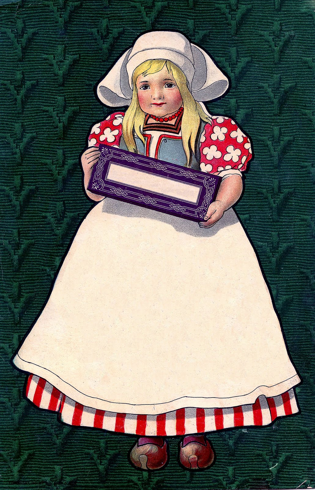 Vintage Advertising Clip Art   Darling Dutch Girl   The Graphics Fairy