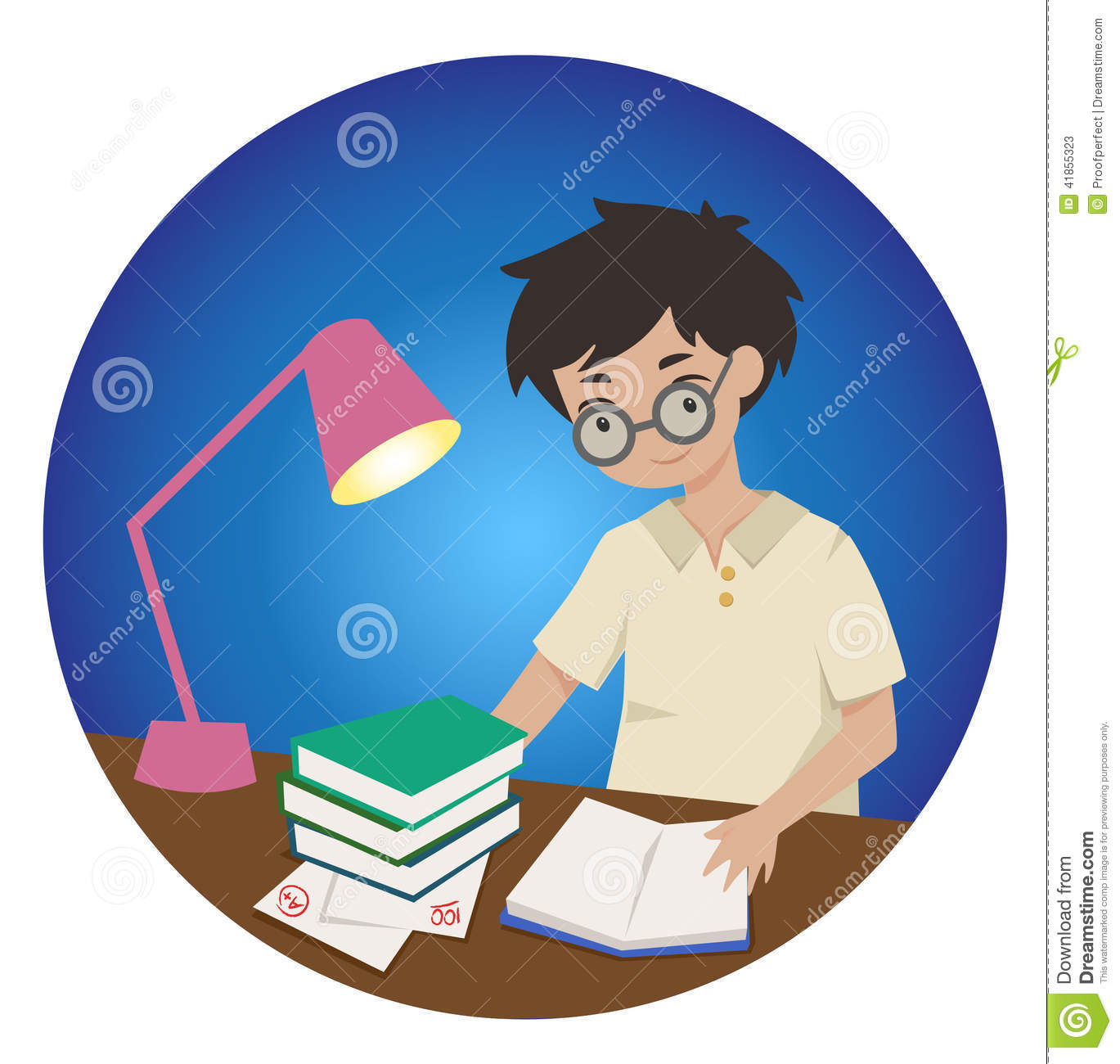 Boy Studying Clipart - Clipart Suggest