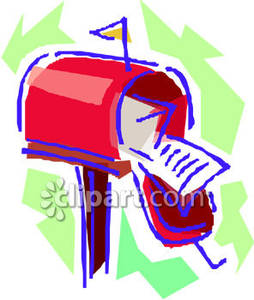 An Open And Full Mailbox   Royalty Free Clipart Picture