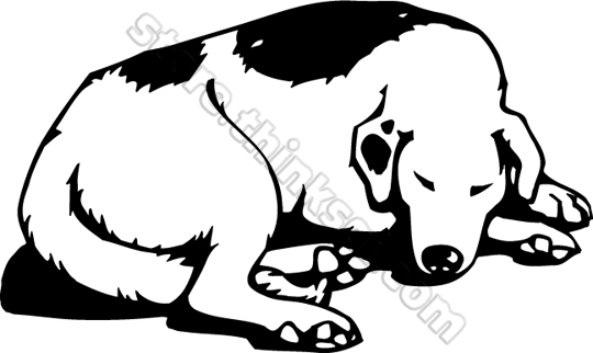 Animals Sleeping Dog 001 Sleeping Dog Illustration