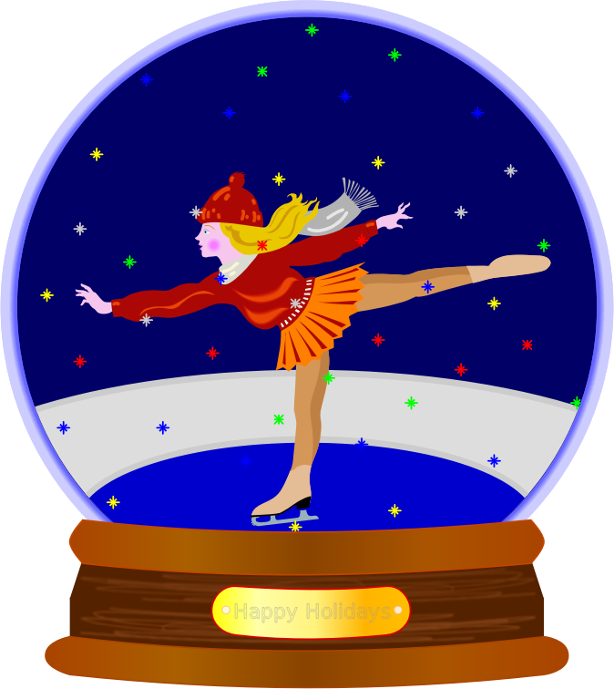Animated Colored Snow Globe By Jaynick   Animated Colored Snow In A