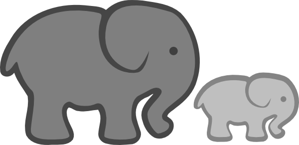 clipart panda elephant - photo #19