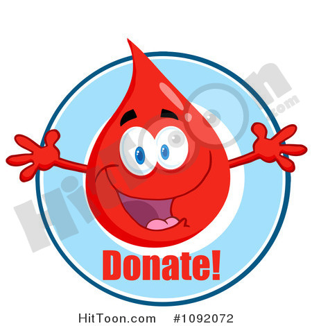 Blood Clipart  1092072  Blood Guy Asking You To Donate By Hit Toon
