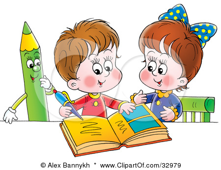 Boy And Girl Studying Clipart Mathematics Learning With