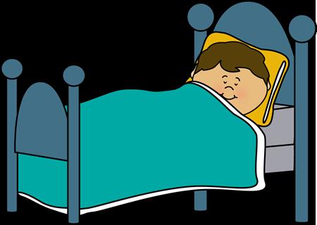 Boy Sleeping Clip Art Image   Little Boy Sound Asleep In A Bed