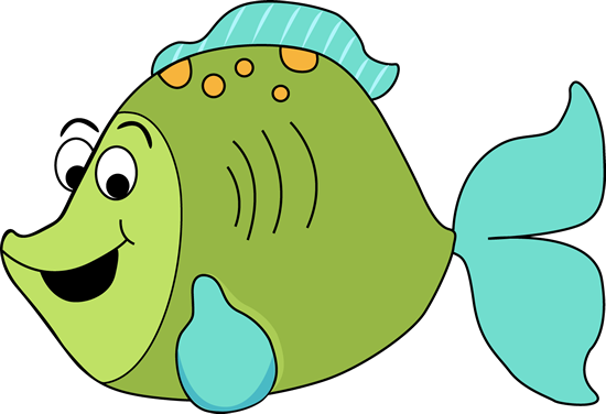Cartoon Fish Clip Art Image   Fun Green Cartoon Fish With Big Eyes A
