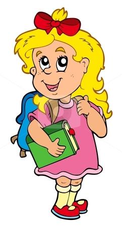 Cartoon Girl School Uniform