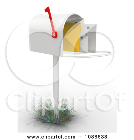 Clipart 3d Full Mailbox   Royalty Free Cgi Illustration By Andresr