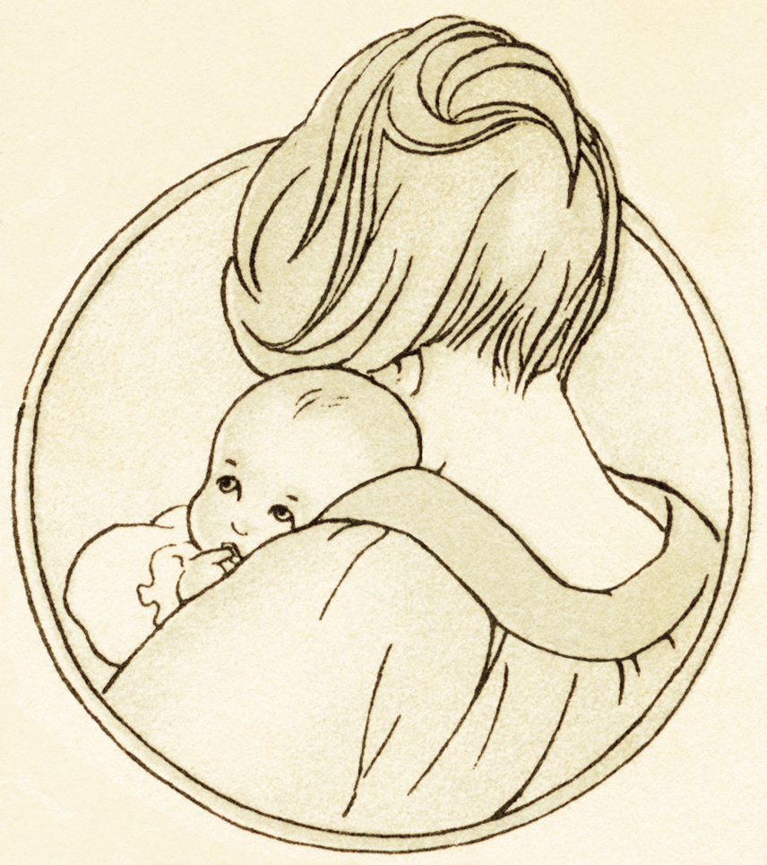 Vintage Mother And Baby Clipart - Clipart Kid