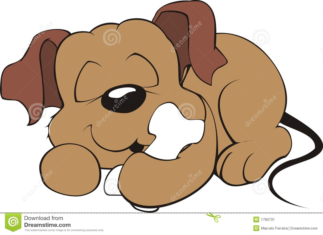 Displaying 19  Images For   Clipart Sleeping Dog
