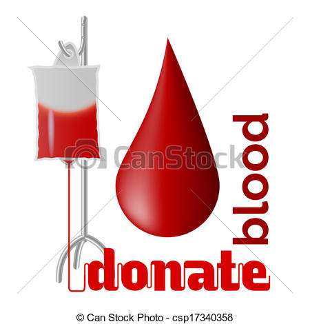 Donate Blood   Blood Donation Concept With Blood Drop And Bag Of Blood