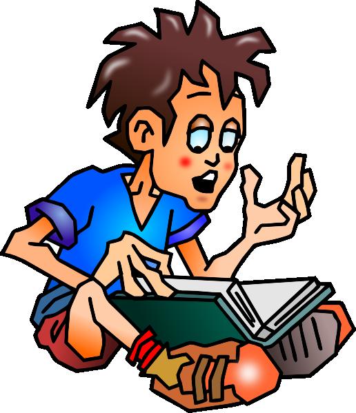 Education Student Reading Clip Art At Clker Com   Vector Clip Art