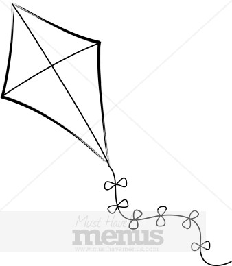 Eps Jpg Word Png Tweet Kite Clipart A Classic Kite Flies In A Windy