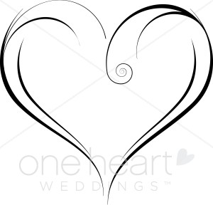 Fancy Heart Clipart Heart Outline Clipart Clip Art Heart Garden Heart