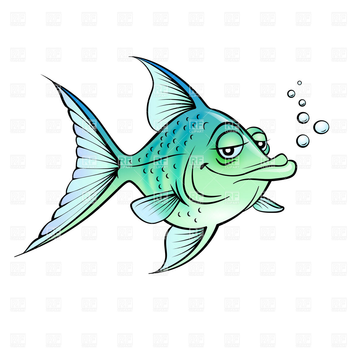 Green Cartoon Fish Download Royalty Free Vector Clipart  Eps