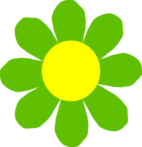Green Flower Clip Art At Clker Com Vector Clip Art Online Royalty