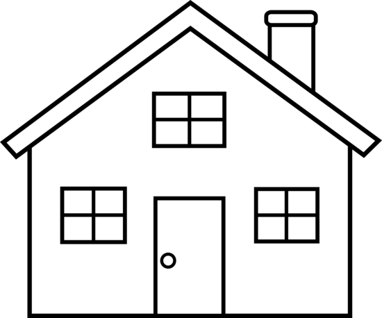 House Outline Clipart Black And White   Clipart Panda   Free Clipart