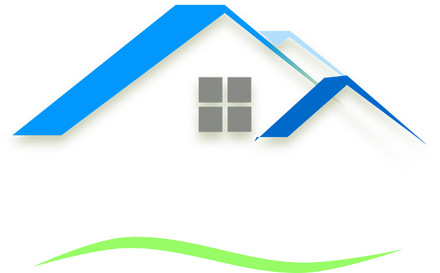 House Roof Outline Clipart Scene   House Roof Blue