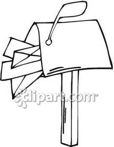 Mailbox Full Of Letters   Royalty Free Clipart Picture