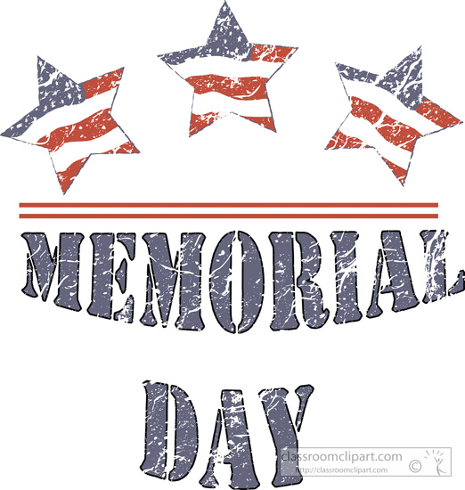 Memorial Day   Three Star Memorial Day 3   Classroom Clipart