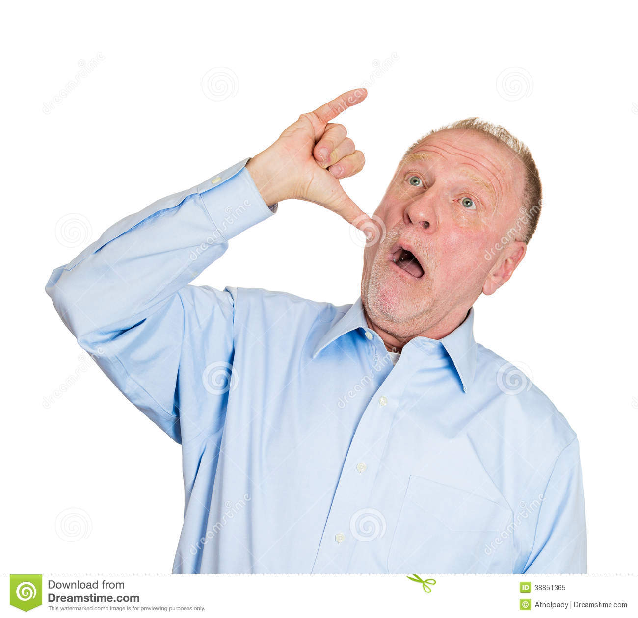Old Man Showing A Drunk Hand Sign Stock Photo   Image  38851365