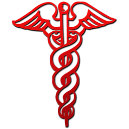 Other Sizes Of Red Caduceus Medical Symbol Clip Art Image