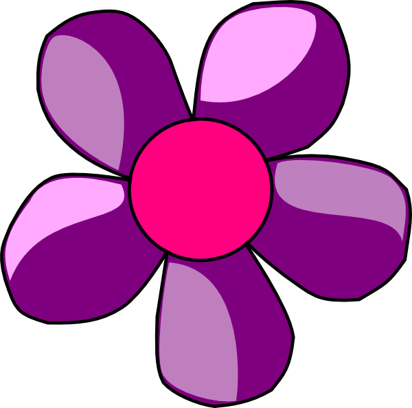 Pink And Purple Flower Clipart - Clipart Kid