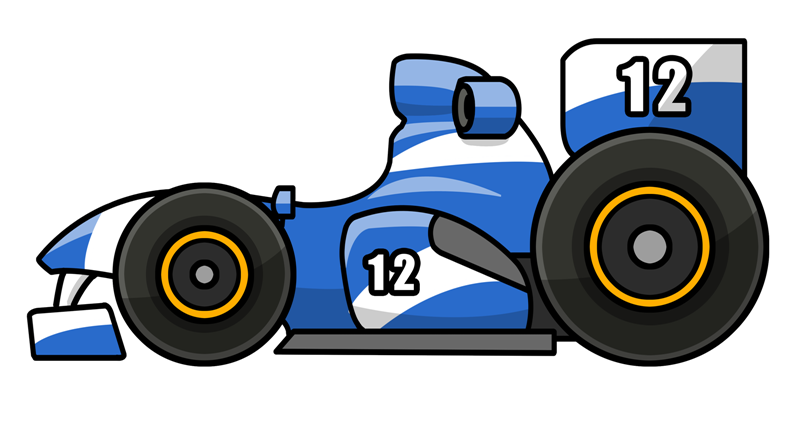 Cartoon Race Car Clipart - Clipart Kid